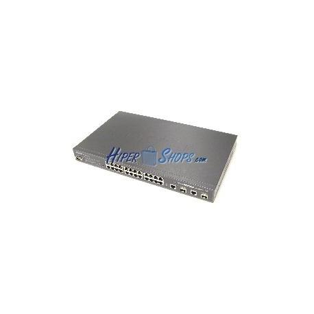 PoE-Switch 10/100Mbps IEEE802.3af WEB RACK19 (12UTP+12PoE+2SFP)