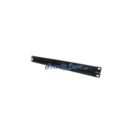 Patch panel de 24 RJ45 Cat.5e UTP 1U negro