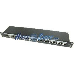 Patch panel de 24 RJ45 Cat.5e FTP 1U negro