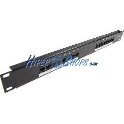 Patch panel de 16 RJ45 Cat.5e UTP 1U negro