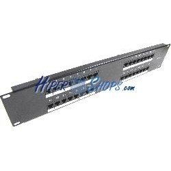 Patch panel de 32 RJ45 Cat.5e UTP 2U negro