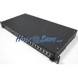 Patch panel de 24 RJ45 Cat.5e FTP 1U negro en cajón extraible