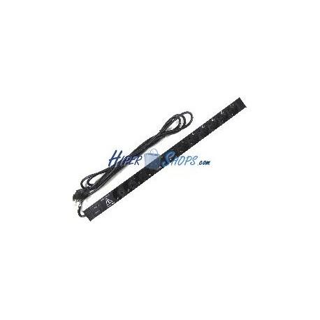 Regleta de enchufes rack 19'''' de 12 schuko con protección sobretensiones de RackMatic