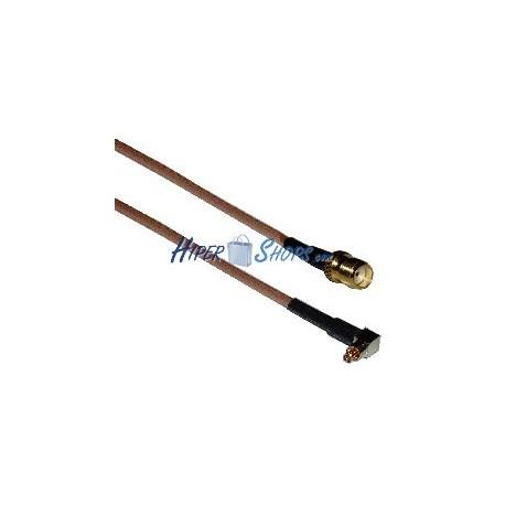 Cable RG-316 20cm (Lucent MC-Card Macho / SMA-Hembra)