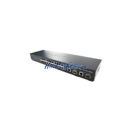 Rack19 LAN WEB switch 10/100Mbps 24 UTP 100Mbps + 2 UTP 1Gb + 2 SFP 1Gb