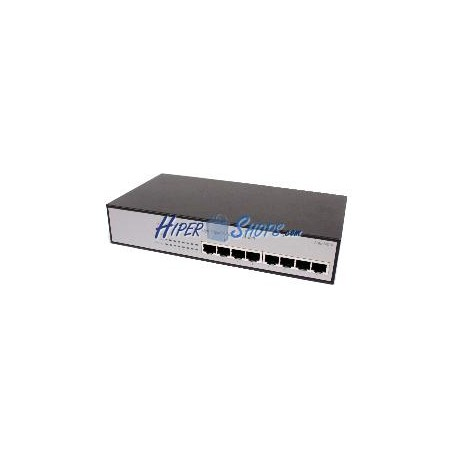 Rack 19&quot- Giga Switch de 10/100/1000 Mbps de 8 UTP