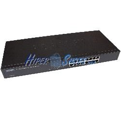 "Rack 19"""" Giga Switch de 10/100/1000 Mbps de 16 UTP"