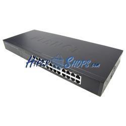Rack 19&quot- Giga Switch de 10/100/1000 Mbps de 24 UTP