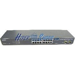 Rack 19&quot-&quot- WEB Giga Switch de 10/100/1000 Mbps de 16 UTP y 2 SFP
