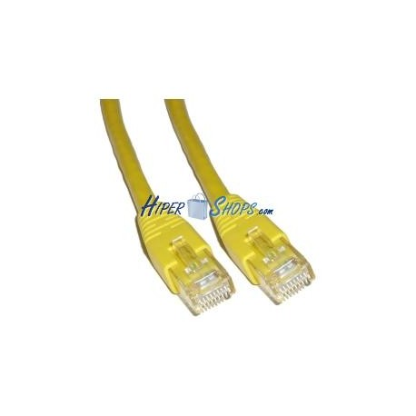 Cable UTP categoría 6 Amarillo (3m)