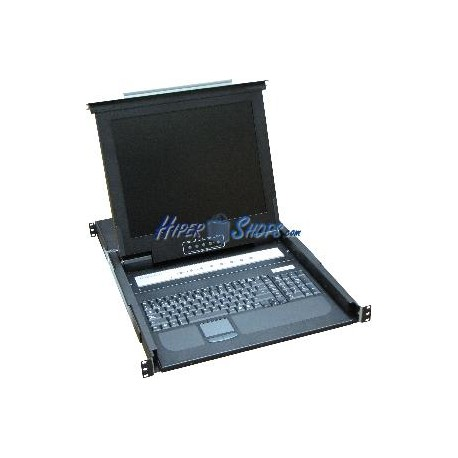 """Consola KVM rack 19"""" de 8 puertos de RackMatic con teclado español"""