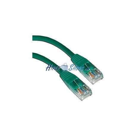 Cable UTP categoría 5e Verde (50cm)