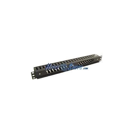 Panel de gestión de cables para rack19 de 1U con frontal de plástico