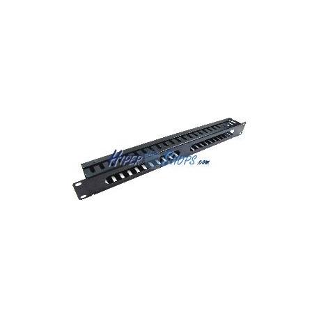 Panel de gestión de cables para rack19 de 1U metálico y fondo 45mm
