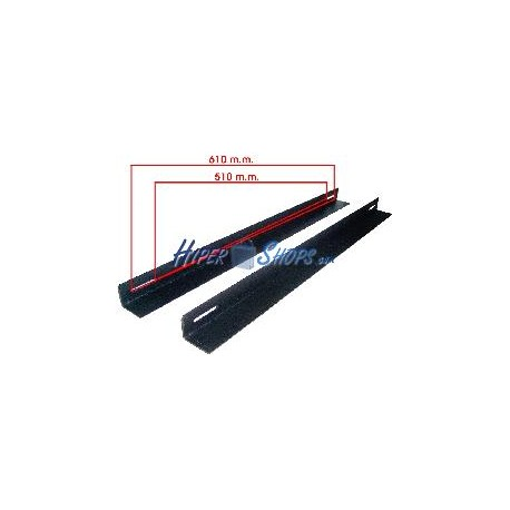 "Guías laterales fijas de fondo 650m para rack 19"""