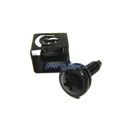 Tornillería M5 para rack 50 unidades tornillo con clip