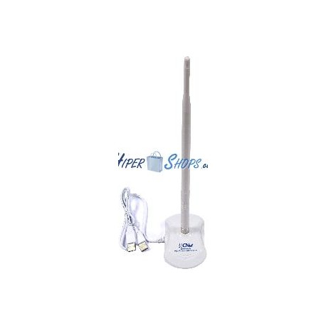 Adaptador WIFI inalámbrico USB 2.0 de 300 Mbps 802.11-n antena 7dB