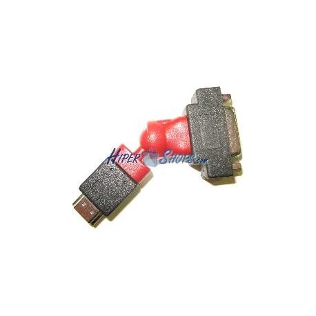 Adaptador rotatorio HDMI-A-hembra a DVI-D-macho