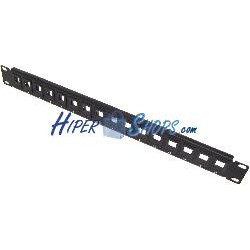 Patch panel rack19 16port 1U tipo 110 para keystone configurable