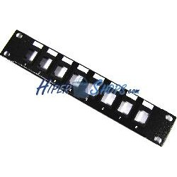 Patch panel rack10 8port 1U tipo 110 para keystone configurable