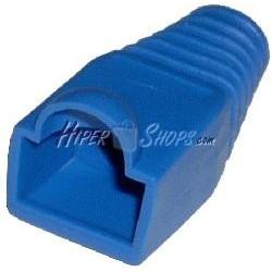 Cubierta de goma para conector RJ45 de color azul