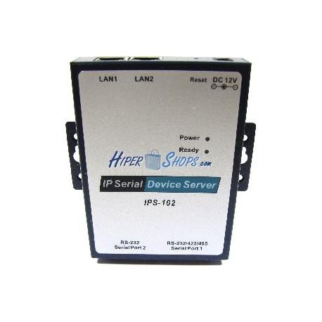 Servidor IP serie RS232 RS422 RS485 de 2 puertos