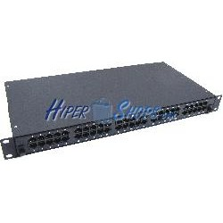 Patch panel de 50 RJ45 Cat.3 1U (8P4C) negro en cajón extraible