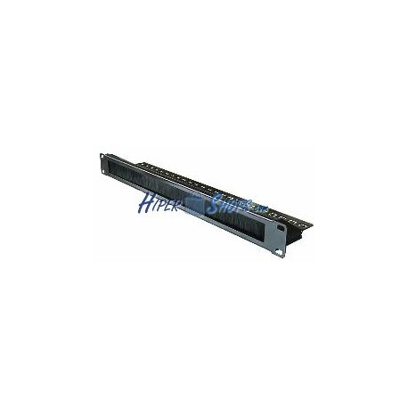 Panel pasacables para rack19 de 1U con cepillo peine