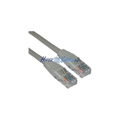 Cable UTP Cruzado Cat.5e Gris (1m)