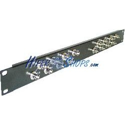 Patch panel de 16 puertos coaxial BNC hembra