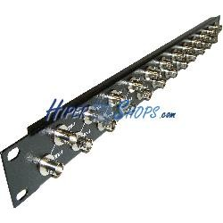 Patch panel de 24 puertos BNC hembra para rack 19&quot-
