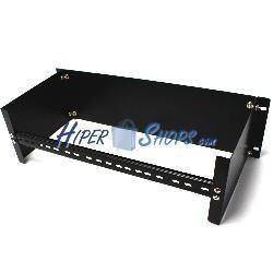 Adaptador de carril DIN de 3U sin orificio para armario rack 19