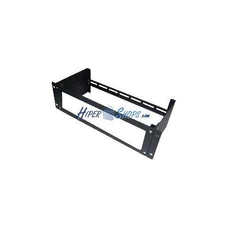 Adaptador de carril DIN de 3U con orificio para armario rack 19