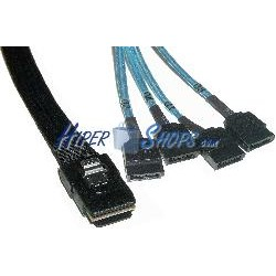 Cable Mini-SAS 36p a 4xSATA2 7p (SFF-8087 a 4x7pin-H) 2.0m