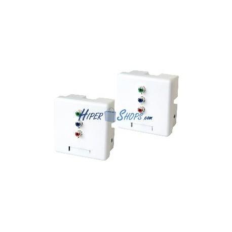 Extensor de vídeo YPbPr UTP Cat.5 pared emisor y receptor YW02