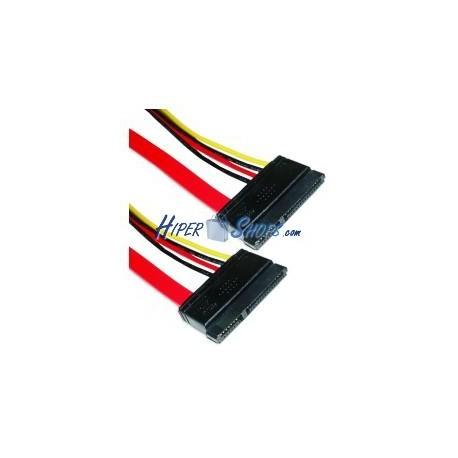 Cable SATA Datos+Alimentación 7P15P H/H de 75cm