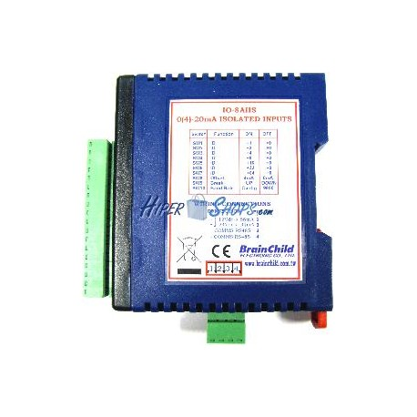 Módulo RS485 de 8 entradas analógicas intensidad aislada (IO-8AIIS)