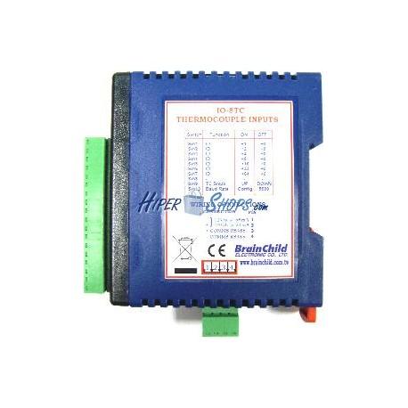 Módulo RS485 de 8 entradas termopar (BrainChild IO-8TC)