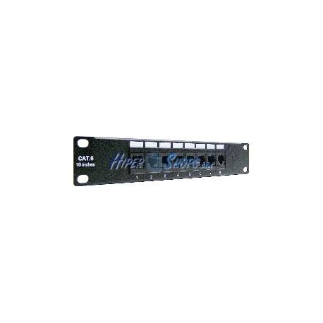 RackMatic TENRack Patch-Panel 10&quot- 8-Port RJ45 Cat.6 UTP 1U