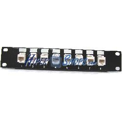 "RackMatic TENRack Patch Panel 10"" 8-Port RJ45 Cat.5e UTP 1U Keyst"