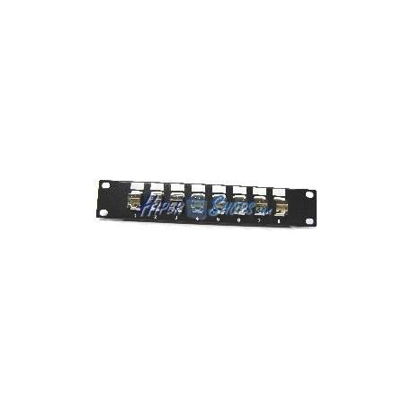 "RackMatic TENRack Patch Panel 10"" 8-Port RJ45 Cat.5e FTP 1U Keyst"