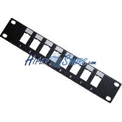 "RackMatic TENRack Patch-Panel 10"" 8-Port 1U (110/Krone)"