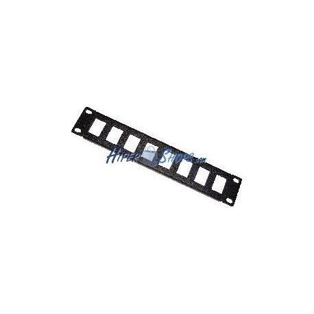 "RackMatic TENRack Patch-Panel 10"" 8-Port 1U (Keystone)"