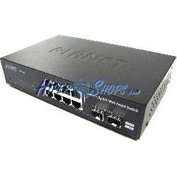 Planet 10&quot-&quot- Gigabit web switch 10/100/1000Mbps 8xUTP + 2xSFP