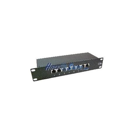 "RackMatic TENRack Patch-Panel 10"" 8-Port RJ45 Cat.5e FTP 1U"