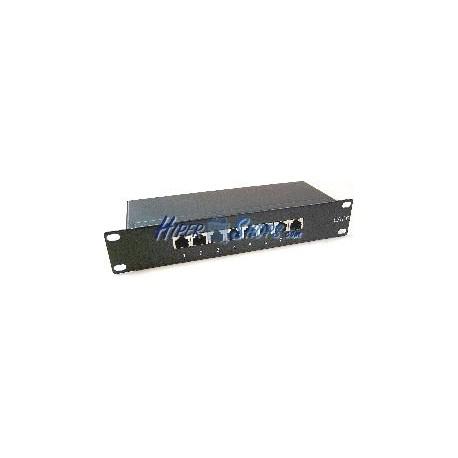 RackMatic TENRack Patch-Panel 10&quot- 8-Port RJ45 Cat.6 FTP 1U