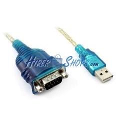 Cable USB a RS232 de 1 puerto DB9 macho de 0,5m