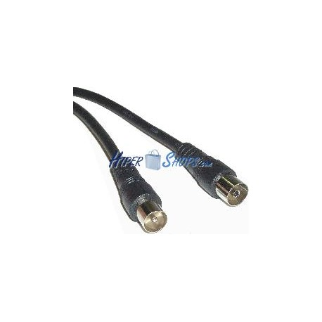 Cable Coaxial Antena TV 75 Ohms (1.5m/Negro)