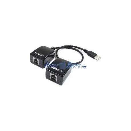 Cable extensor USB 2.0 por cable de red UTP de 50m