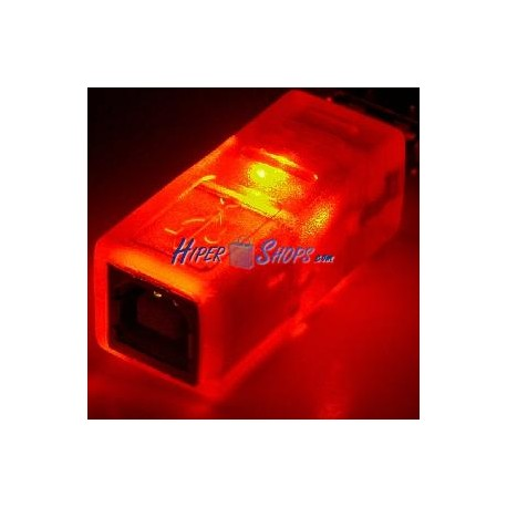 Adaptador USB con LED NARANJA (AM/BH)